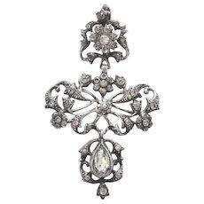 Georgian Silver and Paste Pendant
