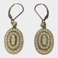Georgian Antique Natural Split Pearl Earrings