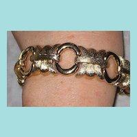 Vintage Chunky Givenchy Goldtone Bracelet