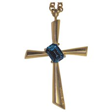 Givenchy Large Goldtone Cross Pendant