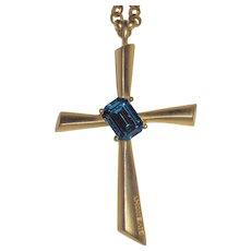 Givenchy Large Goldtone Cross Pendant