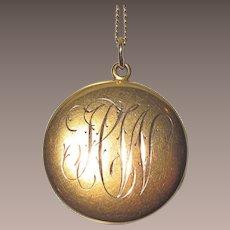 Victorian Gold Locket Engraved