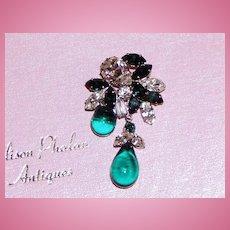 Gorgeous Rhinestone Brooch and Earrings