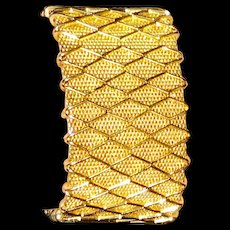 Vintage Mesh Bracelet Grosse Germany 1961 Lattice Remember the 60s!