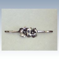 Hand Wrought Sterling Brooch