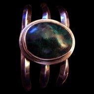 Wonderful Vintage Heavy Sterling Silver Cuff Bracelet