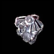 Sterling Ring Floral and Ribbons Vintage