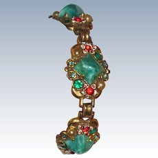 Sterling Hollycraft Bracelet and Earrings