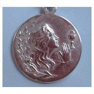Vintage 800 Silver Religious Pendant Holy Eucharist
