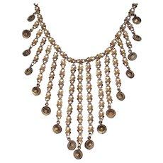 Vintage Fringe Necklace Signed Jeray