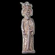 Vintage Sterling Large King Arthur Charm or Pendant