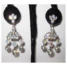 Fabulous Designer Kramer Chandelier Earrings