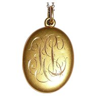 Antique Gold Filled Locket