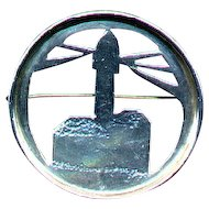 Paulette Loomis Lighthouse Pin Sterling