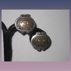 Taxco Mexico Los Ballesteros Sterling Silver Face Earrings