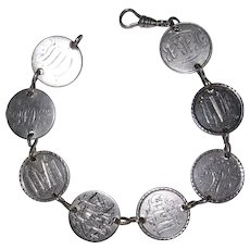 Wonderful Victorian Love Token Bracelet 8 Tokens