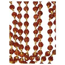 Vintage 18K Gold Rudraksha Mala Beads 36 Inches