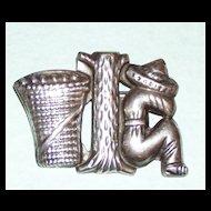 Vintage Mexican Silver Brooch