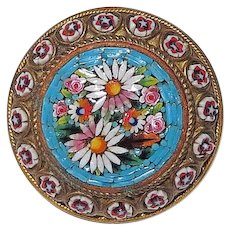 Vintage Lovely Micro Mosaic Pin