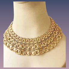 Monet Stunning Vintage Collar Necklace