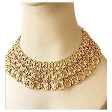 Monet Stunning Vintage Collar Necklace