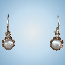 Victorian Moonstones Drop Earrings Pretty