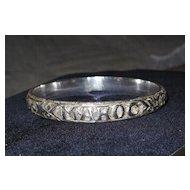 Vintage Hand Carved MAROC Bangle Bracelet