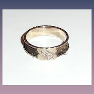 Victorian Rose Gold Woven Hair Memorial Ring