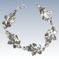 Danecraft Sterling Leaf Bracelet