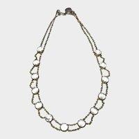 Antique Paste Rivière Choker Necklace
