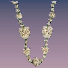 Neiger Brothers' Czechoslovakia Beads Necklace Pansies