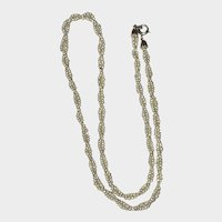 Antique Georgian Natural Seed Pearl Twisted Necklace