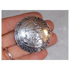 Gorgeous Silver Brooch Peru