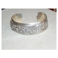 Peter Nelson Sterling Cuff Bracelet