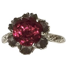 Vintage Sterling Red Stone Ring
