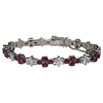 Ruby Diamonds Fancy Bracelet