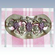 Art Nouveau Grapes Motif Sash Pin