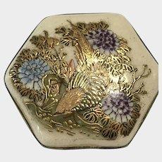 Antique Satsuma Brooch