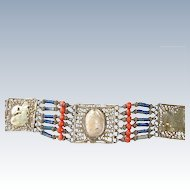 Genuine Egyptian Scarab Bracelet Egyptian Revival