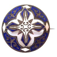 Scottish Victorian Enamel Brooch