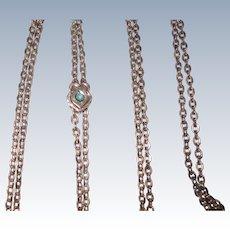 Victorian Slide Chain Opal Slide