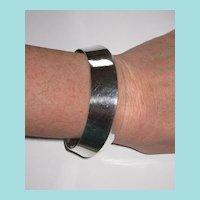 Wide Sterling Mexico Cuff Bracelet Geometric