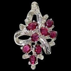 Ruby Diamonds Pendant