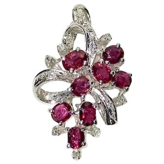 Ruby Diamonds Pendant