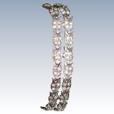 Art Deco Sterling Paste Bracelet