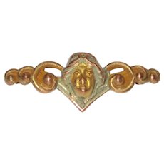 Sweet Art Nouveau Lady Small Bar Pin