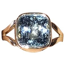 Blue Topaz 14K Gold Ring Beautiful