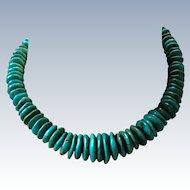 Arizona Turquoise Disc Beads Necklace