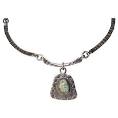 Early Native American Turquoise Necklace