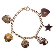 Victorian Fob and Charms Charm Bracelet